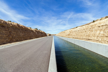 Irrigation Canal in an Arid Zone