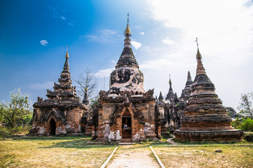 Daw Gyan complex pagoda in Inwa royal site near Mandalay, Myanmar.