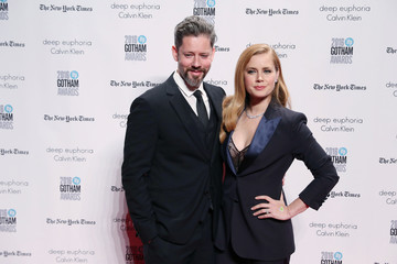 Actor Amy Adams arrives with her husband actor Darren Le Gallo on the red carpet at the 2016 IFP Gotham Independent Film Awards in Manhattan, New York