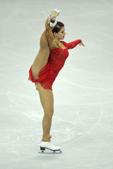 Eliska Brezinova of Czech Republic performs her women's preliminary round free skating routine at the European Figure Skating Championships at the Motorpoint Arena in Sheffield