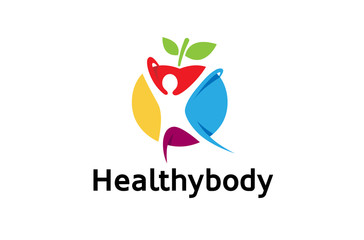 Creative Colorful Healthy Body Logo Design Illustration