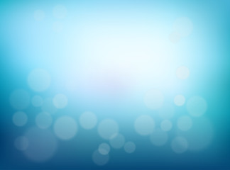 Abstract Blurred background. Blue gradient backdrop with bokeh effect