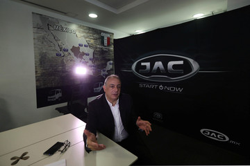 Elias Massri, CEO of Giant Motors Latin America, speaks during an interview in Mexico City