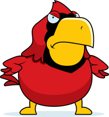 Angry Cartoon Cardinal