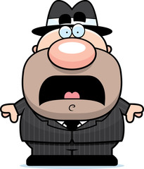 Scared Cartoon Mobster