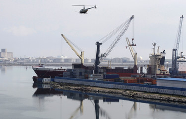 A general view shows a shipping container area at the port of Halk al-Wad, in TunisA general view shows a shipping container area at the port of Halk al-Wad, in Tunis