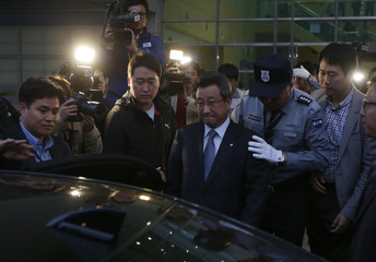 Hong Yang-ho, chairman of the Kaesong Industrial District Management Committee (KIDMAC), leaves the South's CIQ in Paju