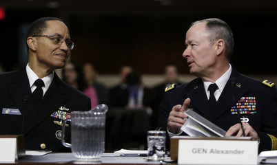 US Navy Admiral Haney and US Army General Alexander appear before the Senate Armed Services Committee in Washington