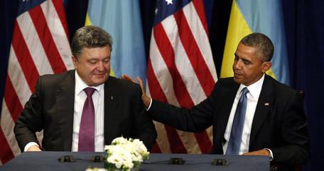 U.S. President Barack Obama meets with Ukraine President-elect Petro Poroshenko in Warsaw