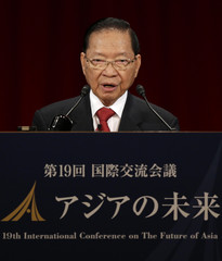 Cambodia's DPM and Finance Minister Keat Chhon gives a speech at the International Conference on the Future of Asia in Tokyo