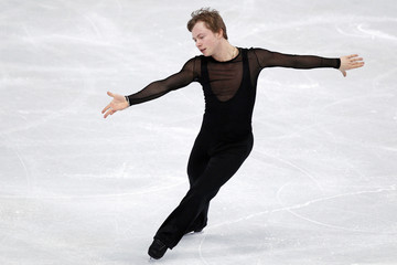Alexander Majorov of Sweden performs during the men's free skating program at the Bompard Trophy figure skating competition at Bercy in Paris