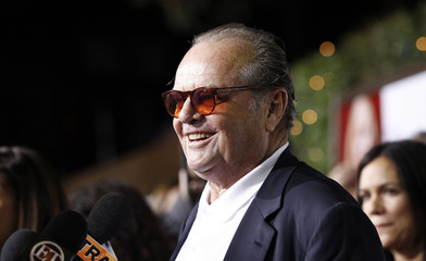 "Nicholson is interviewed at the premiere of ""How Do You Know"" at the Mann Village theatre in Los Angeles"
