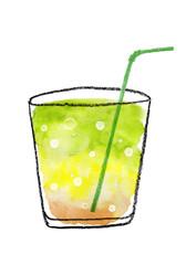 シトラスジュース 水彩イラスト