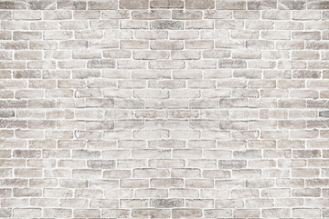 White brick wall background. Wall mural