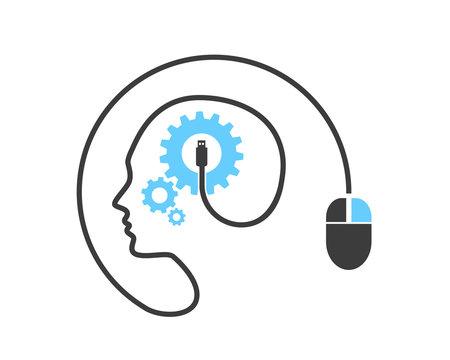 Modern Creative Technology Mind Circuit Board Logo