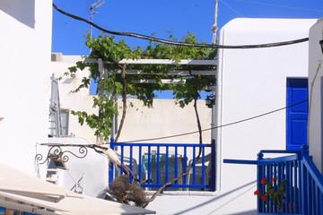 maison et balcons à Mykonos