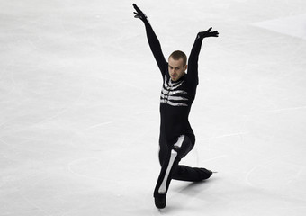 Van Der Perren of Belgium performs during the Men's short program event at the World Figure Skating Championships in Turin