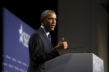 Obama delivers remarks at the SelectUSA Investment Summit in National Harbor, Maryland