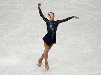 South Korea's Park competes during the women's free program at the ISU World Figure Skating Championships in Saitama