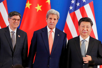 China's President Xi Jinping meets U.S. Secretary of State John Kerry and U.S. Treasury Secretary Jack Lew in Beijing