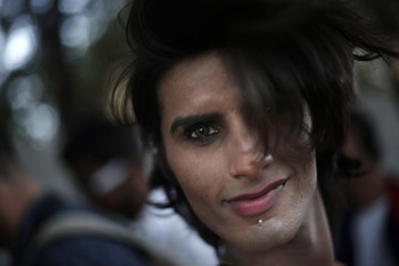 A participant dances during Delhi Queer Pride Parade in New Delhi