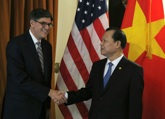 United States Secretary of the Treasury Jack Lew meets with Vietnamese Deputy Prime Minister Vu Van Ninh in Washington