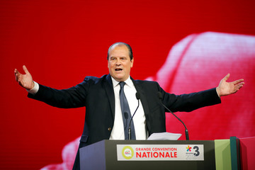 French Socialist Party First Secretary Jean-Christophe Cambadelis delivers his speech during the convention of the Belle Alliance Populaire (Nice Popular Union) ahead of the 2017 French presidential election in Paris