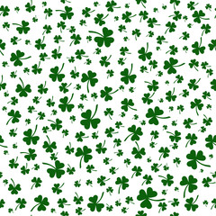 vector shamrock. seamless pattern