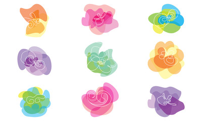 simple abstract flowers