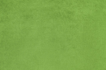 Background with green texture, velvet fabric