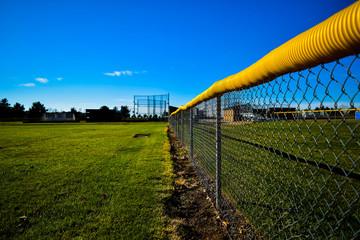 Chain Link Fence Boarding BaseBall Field