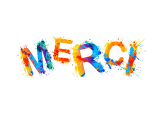 Inscription in French: Thank You (merci)