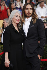 Actor Jared Leto and his mother Constance Leto arrive at the 20th annual Screen Actors Guild Awards in Los Angeles