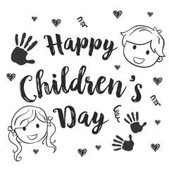 Collection children day hand draw