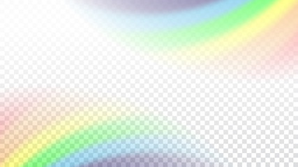 Rainbow gradient on white transparent background. Color rainbow abstract mesh. Colorful bright soft design. Vibrant smooth blur. Light effect. Vector illustration