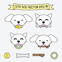 Cute Dog Vector Illustration EPS 10 Icon flat logo symbols