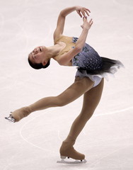 Zhang of the U.S. performs during the Ladies Free Skating competition at the ISU Four Continents Figure Skating Championships in Jeonju