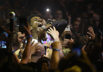 Hip hop artist Desiigner performs by members of the audience during the iHeartRadio Much Music Video Awards (MMVAs) in Toronto