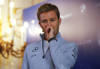 Mercedes' Formula One World Champion Nico Rosberg of Germany speaks during a news conference as he announces his retirement in Vienna
