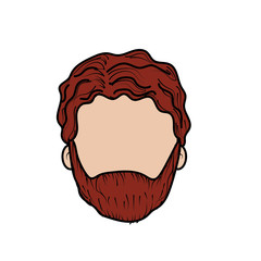 nice man face with haistyle and beard