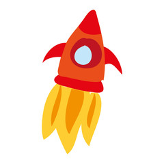 rocket flying drawing icon vector illustration design
