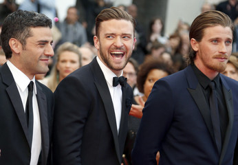 "Cast members Oscar Isaac, Justin Timberlake and Garrett Hedlund  arrive for the screening of the film ""Inside Llewyn Davis"" in competition during the 66th Cannes Film Festival"