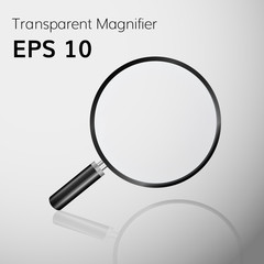 Magnifier realistic vector