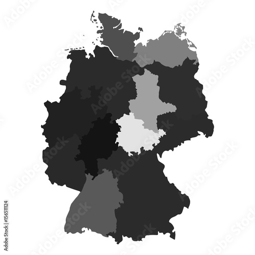 Map Of Germany With Regions.Germany Regions Map Stock Image And Royalty Free Vector Files On