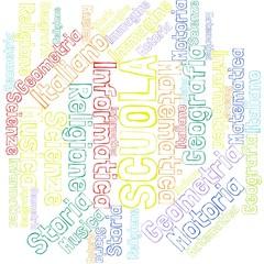 Scuola - materie - nuvola di parole