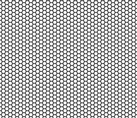 Comb hexagonal seamless pattern vector