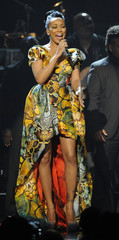 Monica performs during a tribute to the late Whitney Houston at the 2012 BET Awards in Los Angeles