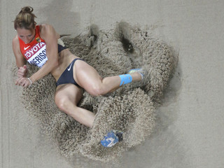 Gierisch of Germany competes in women's triple jump final during 15th IAAF World Championships in Beijing