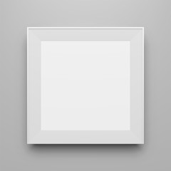 Square white vector Frame Template for Picture