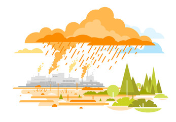 Acid Rain Emissions from Plants